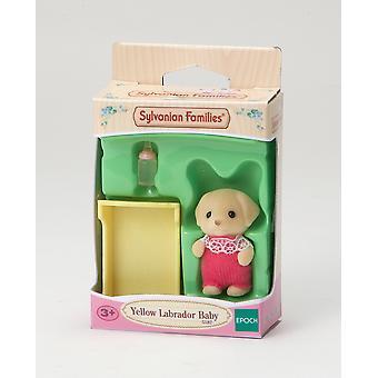 Brinquedos - Sylvanian famílias - Labrador amarelo bebê - Epoch