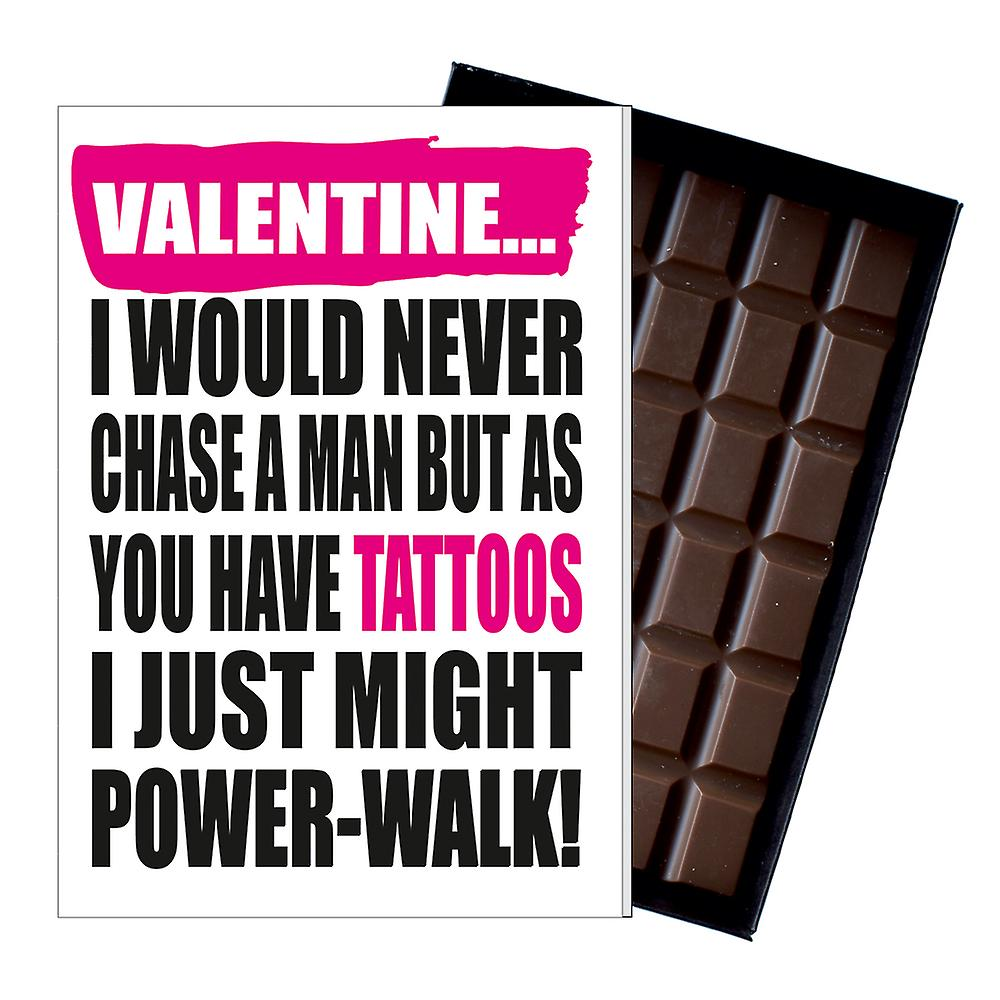 Funny Valentines Gift for Tattoo lover tattoed man women chocolate present IYF196