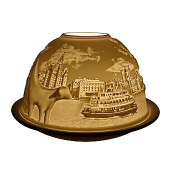 Light Glow Dome Tealight Holder, Liverpool 2