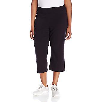 Jockey Women's Slim Capri Flare, Deep Black, 2X, Deep Black, Size 2.0