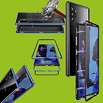 Samsung Galaxy Note 10 Plus N975F magneetti/metalli/lasi kotelo Bumper musta/läpinäkyvä kotelo uusi