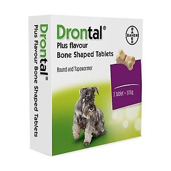Drontal gustoso osseo Compresse per cani - 2 Pack