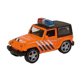 112 Pull-Back Die-Cast Reddingsbrigadeauto met Licht en Geluid 11 cm