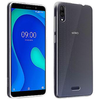Original Wiko Y80 Kit Gel Silicone Case & 9H tempered Glass Screen Protector