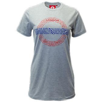 Licensed tfl™101l ladies london undergound mind the gap™ t shirt grey