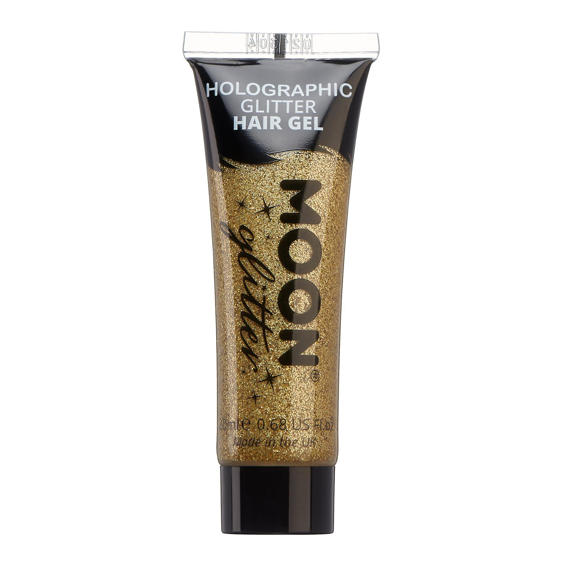 Holographic Glitter Hair Gel by Moon Glitter - 20ml - Gold