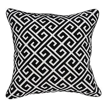 """20"""" x 7"""" x 20"""" Cubierta de almohada en blanco y negro con inserto de poli"""