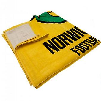 Norwich City FC Crest Beach Towel