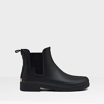 Hunter Original Refined Ladies Rubber Chelsea Boots Black