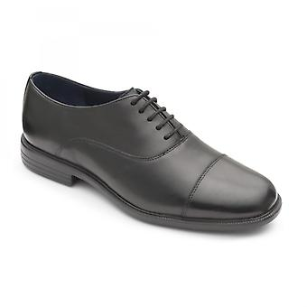 Padders Kensington Mens Leather Wide (g Fit) Shoes Black
