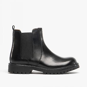 Shuperb Starsky Kids Smooth Leather Chelsea Boots Black