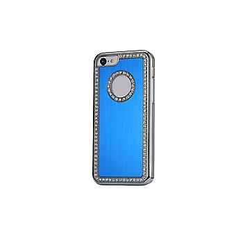 Hull For IPhone 5c Aluminium Brushed Blue Night And Strass