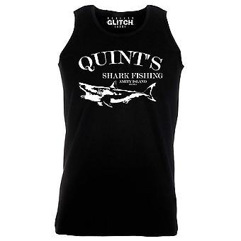 Reality glitch quints shark fishing mens vest