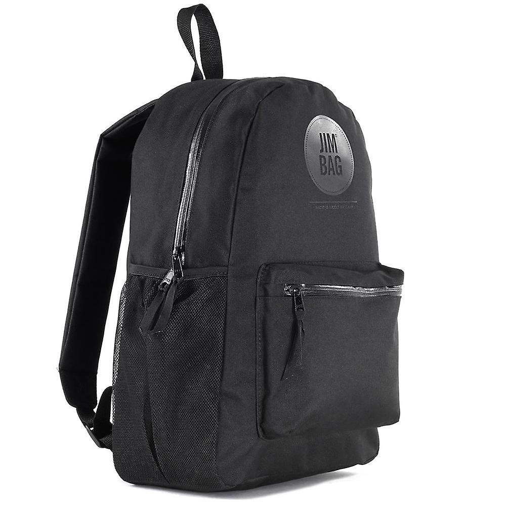 JIMBAG Black Backpack Travel Outdoor Waterproof Backpack Bag, Laptop Compartment