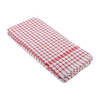 Daily Dining Unisex 2 Pack of Checked Tea Towel