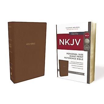 NKJV Reference Bible Personal Size Giant Print Leathersoft Tan Red Letter Comfort Print by Thomas Nelson