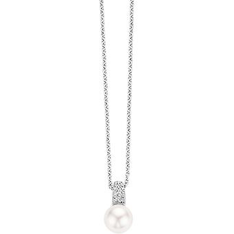 Necklace and pendant Ti Sento release - necklace and pendant 3877PW-42 Pearl White crystals woman
