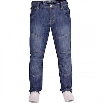 Crosshatch Mens Crosshatch Classic Straight Leg Regular Fit  Denim Jeans All Waist Sizes