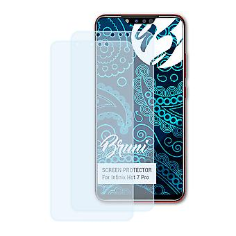 Bruni 2x Screen Protector compatible with Infinix Hot 7 Pro Protective Film