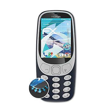 atFoliX 3x Schutzfolie kompatibel mit Nokia 3310 4G Folie klar&flexibel