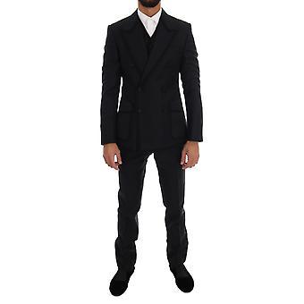 Dolce & Gabbana Blue Torero 3 Piece Sicilia Suit