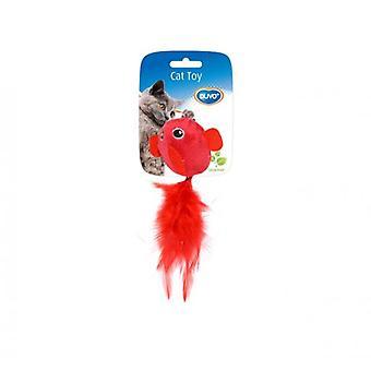 Duvo+ Pajaro Cat Toy With Feathers 2 Uni 13 X 10 X 3.5 Cm