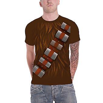 Star Wars T-paita Chewbacca rinnassa Wookie puku uusi virallinen miesten ruskea