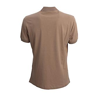 Brunello Cucinelli M0t618303c6424 Men's Beige Cotton Polo Shirt