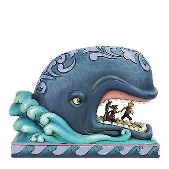 Disney A Whale of a Whale Monstro with Geppetto and Pinocchio Collector's Figurine - Boxed