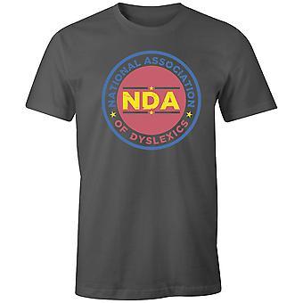 Pojat Crew Neck Tee Lyhythihainen Miesten T-paita- NDA - National Association of Lukihäiriöiden
