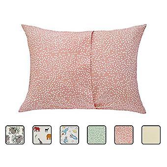 Zack & Ali Organic Toddler Poszewka na poduszkę, Różowa Kropka, Różowa Kropka, Rozmiar 1-Pack