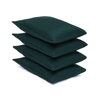 4 paquet de sacs de haricots en tissu de coton vert pour le sport, PE, école, Jeux de capture, Sensory, Jonglerie