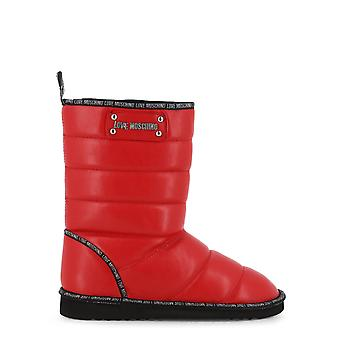 Love Moschino Original Women Fall/Winter Ankle Boot - Red Color 38008