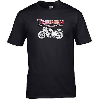 Triumph Café Racer B&W - Motorcycle Motorbike Biker - DTG Printed T-Shirt