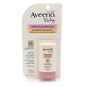 Aveeno baby natural protection mineral block face stick, spf 50, 0.5 oz
