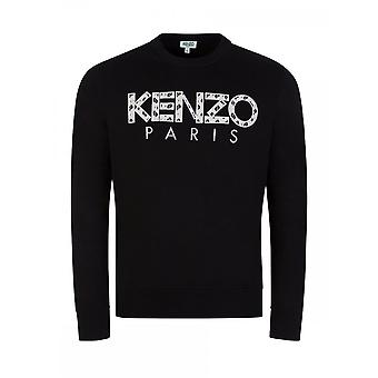 Kenzo Classic Kenzo Paris Embroided Logo Black Sweatshirt