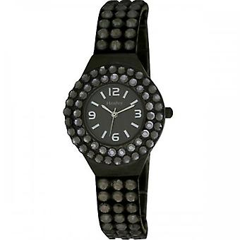 Henley Glamour Charcoal Multi Faceted Crystal Watch