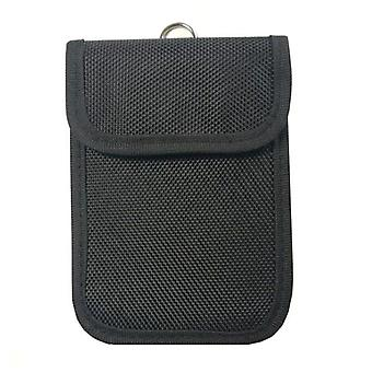 Mobile and car key bag in oxford nylon with RFID signal blocking