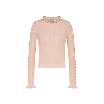 Red Valentino Tr3kcc094w3377 Women's Nude Cotton Sweater
