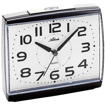Атланта 1919/4 будильник кварцевые аналоговые антрацит спокойно без тиканье светом Snooze