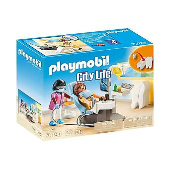 playmobil 70198 city life dentist playset 27pcs for ages 4 and above