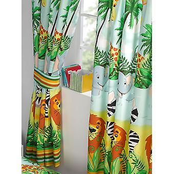 Jungle-Tastic Lined Curtains