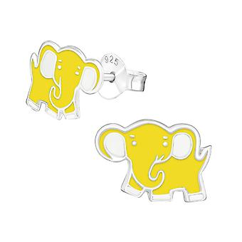 Elephant - 925 Sterling Silver Colourful Ear Studs - W17683x
