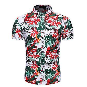 Allthemen Men's Floral Printed Summer Casual Short Sleeve Shirt