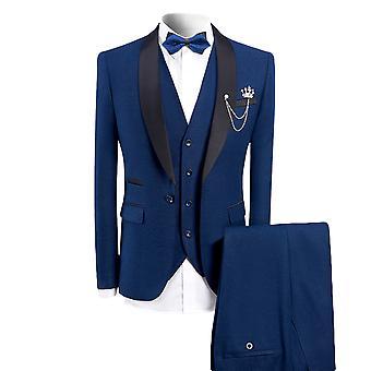 Allthemen heren smoking Suit 3-delige slim fit business kostuums blazer & vest & broek