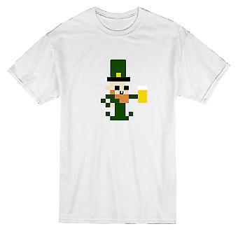 Saint-Patrick Day Pixel Leprechaun Graphic T-shirt homme