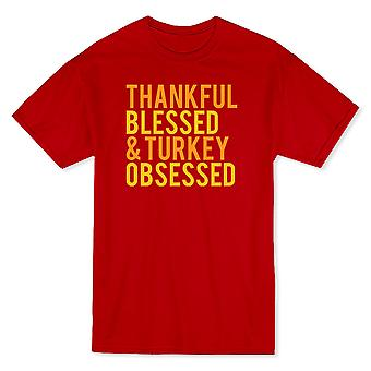 Thankful Blessed & Turkey Obsessed Men's T-shirt