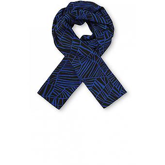 Masai Clothing Along Blue Patterned Scarf