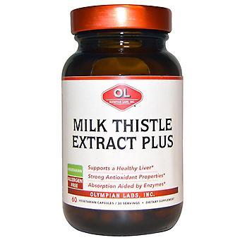 Olympian labs milk thistle extrait plus, veggie casquettes, ea 60