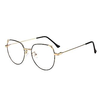 Anti Blue Light Glasses, Cat Ears - Gold / Black